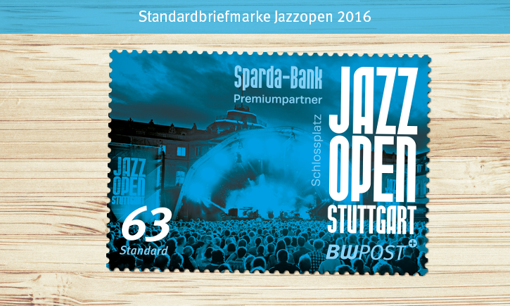 Briefmarken-Motive helles-Holz JAZZ 63er